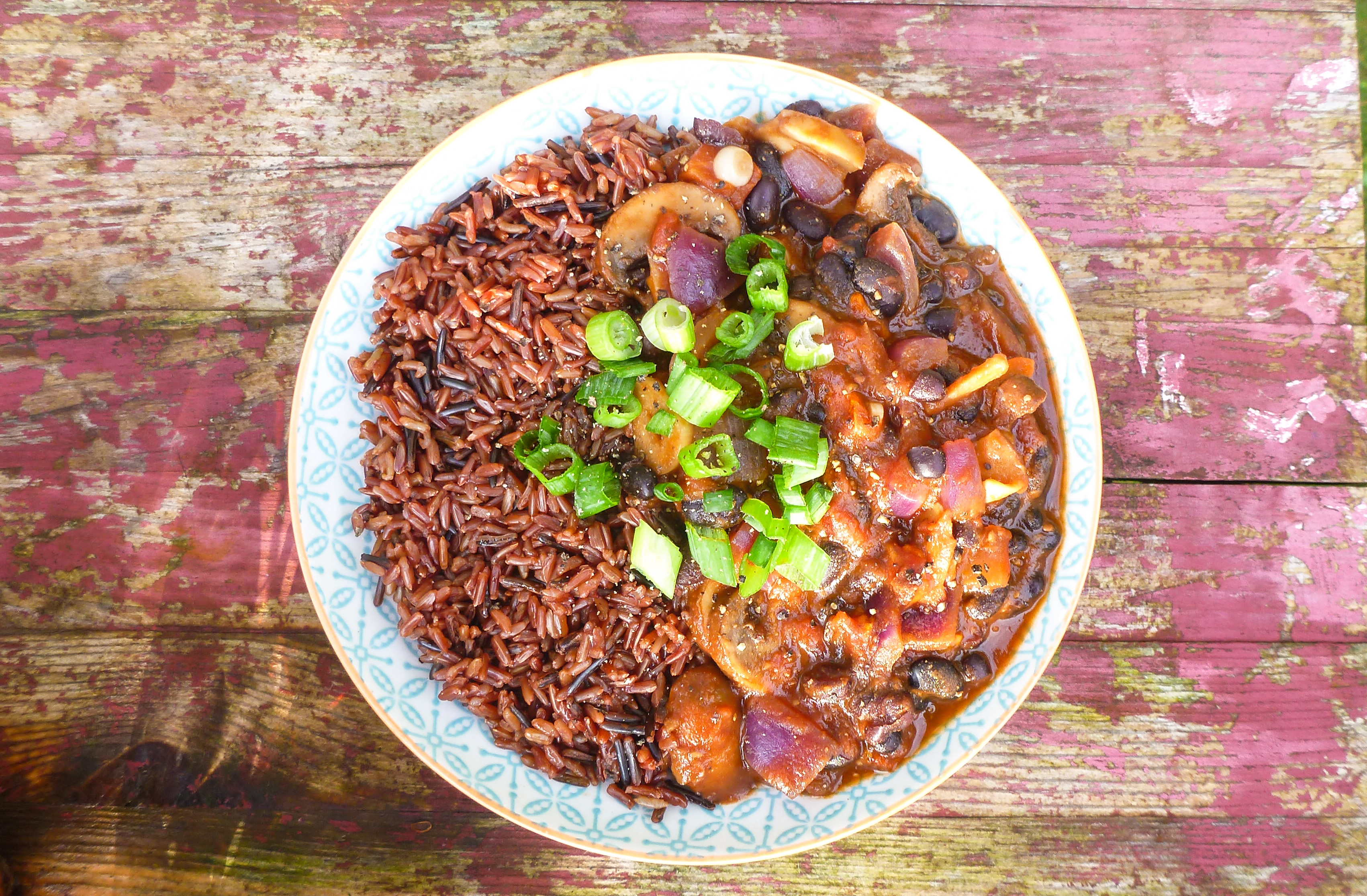 Mushroom, Clove and Black Bean Healing Chili